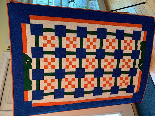 Charlotte's Swamp Pandemonium, by Terri Smith (Quilted by Marianne Crowley)