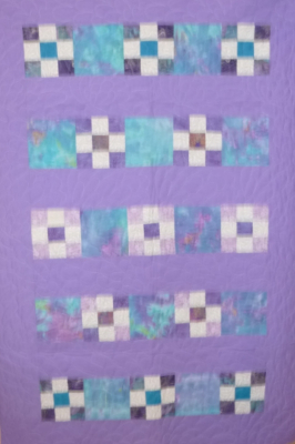 Purple 9-Sq. Bands SHP Quilt by Roberta Granville